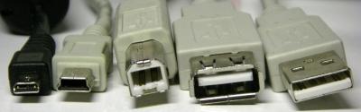 verschillende usb connectors